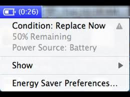 battery percentage message