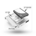 ssd caddy macbook pro imac bracket